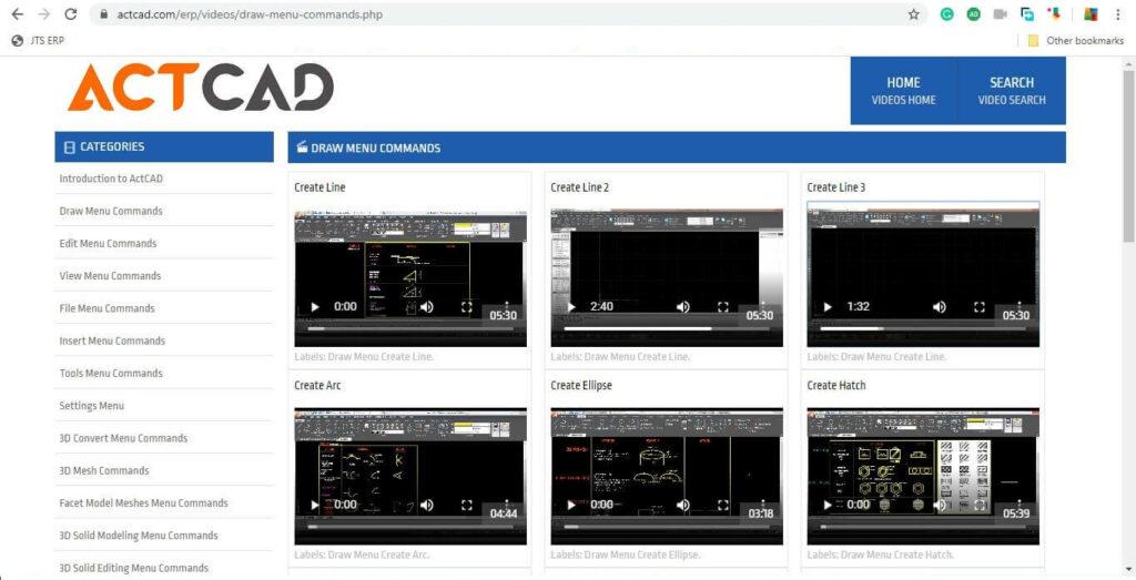 ActCAD video instrukcijas